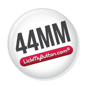44mm round buttons - Flatback + Clothing Magnet