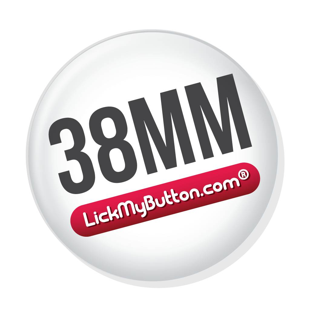 38mm round custom buttons - Metal Flatback + Clothing Magnet