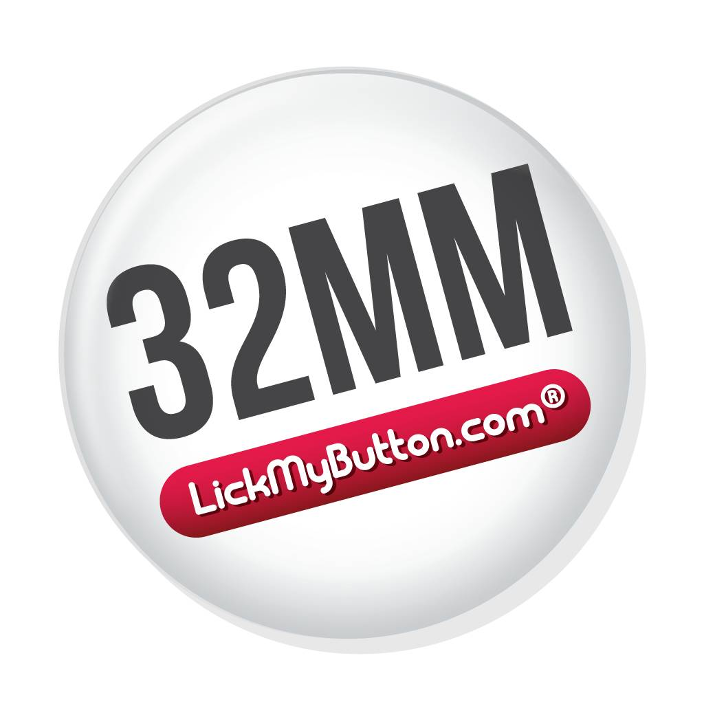 32mm round custom buttons - Pinned Back