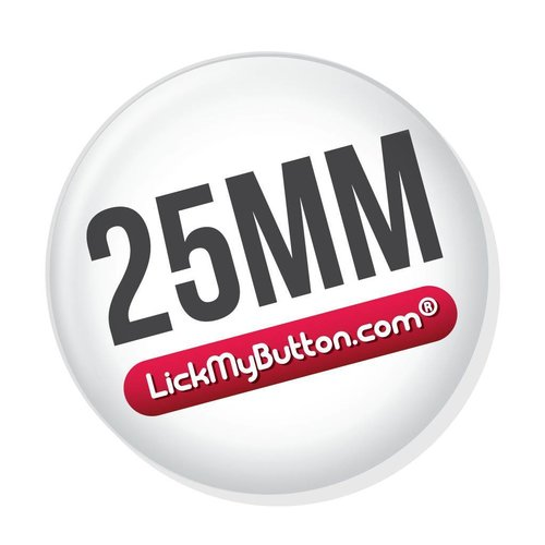 25mm (1 inch) custom buttons