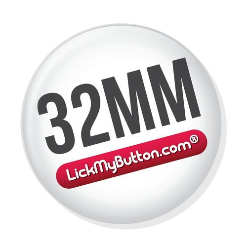 32mm (1 1/4 inch) custom buttons