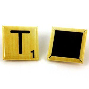 Boutons carrés 25x25mm - Aimant