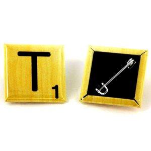 badges carrés 25x25mm - Épinglé au dos