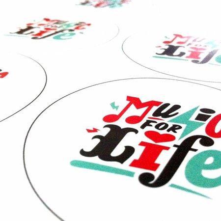 Button Prints klaar voor gebruik (bedrukte en gesneden papier cirkels)