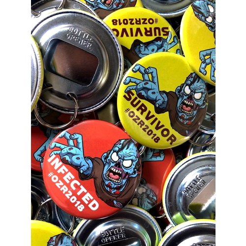 56mm round custom buttons - Bottle Opener (choose magnetic of split ring)