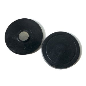 Magneetbutton onderdelensets 38mm (per 100 sets) - zwart kunststof