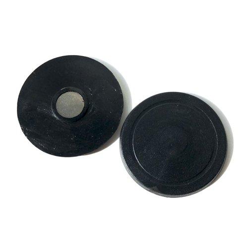 Magnet Button parts 38mm / 100 sets - black plastic