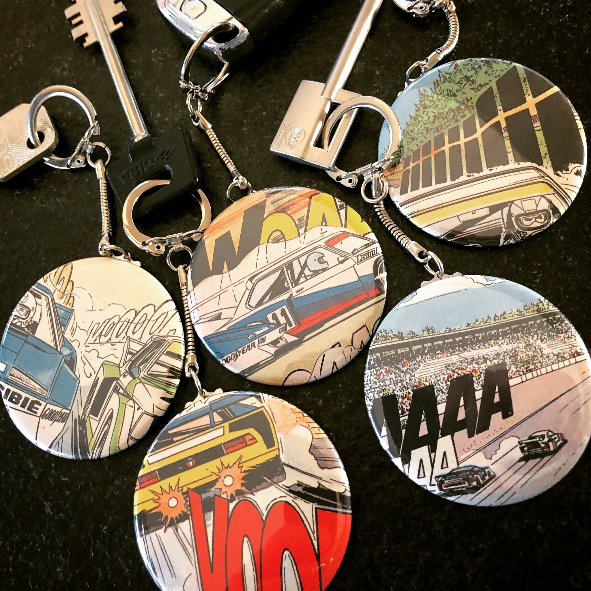 Racing Comic Sound Type Michel Vaillant Key Hanger button 56mm