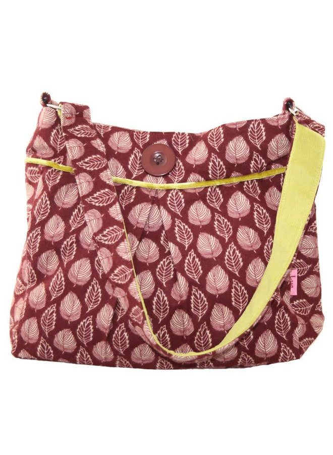 Pleated Button Bag