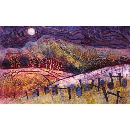 Janine Denby Moon Over Autumn Fields