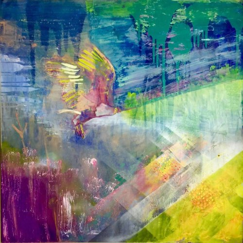 Lisa Naylor Copy of Rise - mixed media painting