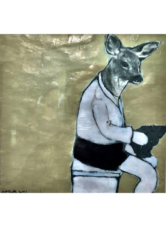 Copy of Fox -  mixed media painting