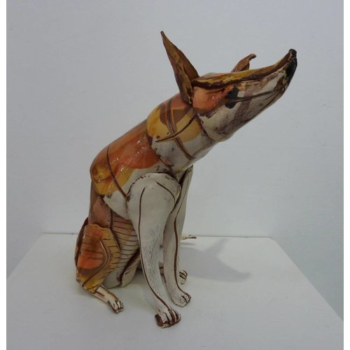 Anna-Mercedies Wear Sitting Fox 2  ceramic sculpture