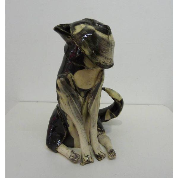 Small Black Cat ceramic sculpture