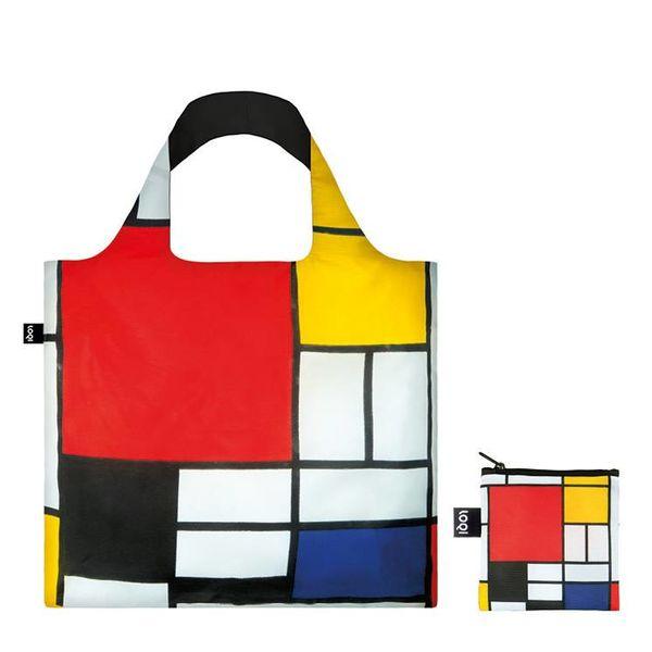 Composición con rojo, amarillo, azul y negro