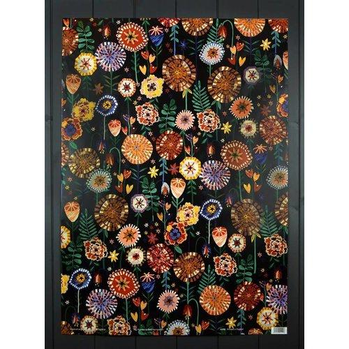 Art Angels Pop Flowers gift wrap by Brie Harrison