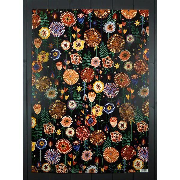 Pop Flowers gift wrap by Brie Harrison