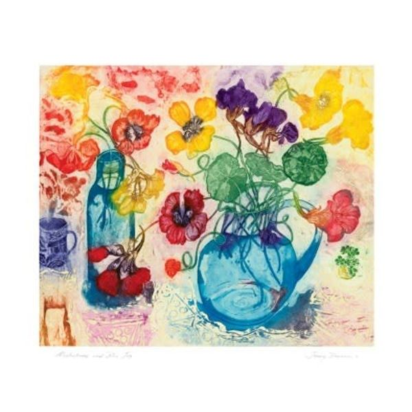 Nasturtiums Card by Jenny Devreux