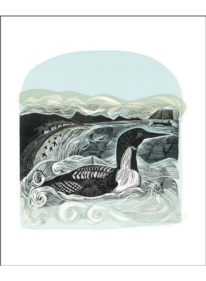 Black Throated Diver card by Angela Harding