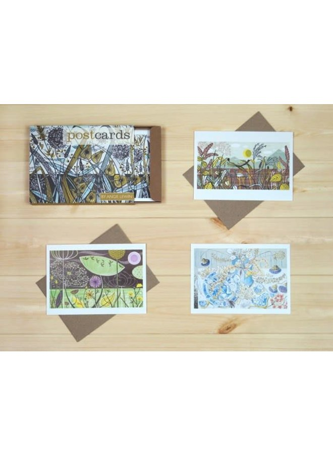 Assorted postcards by Angie Lewin