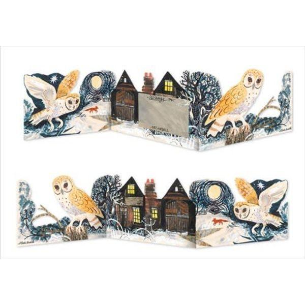 Barn Owl 3 fold Mark Hearld