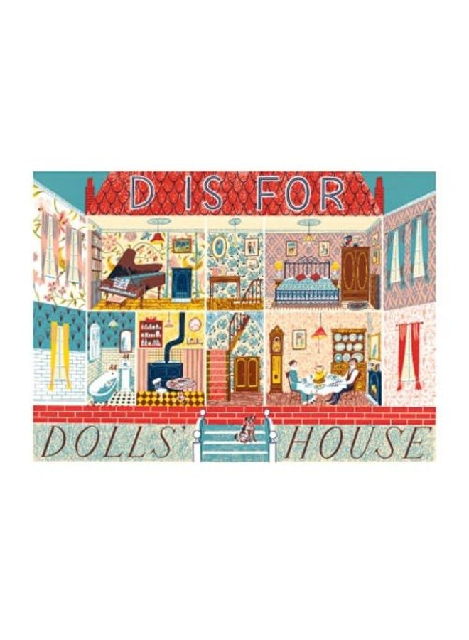 D is for Dolls House Card Emily Sutton