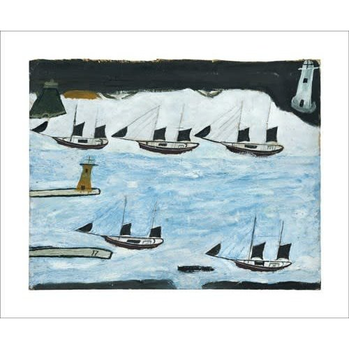 Art Angels Five Ships  card by Alfred Wallis