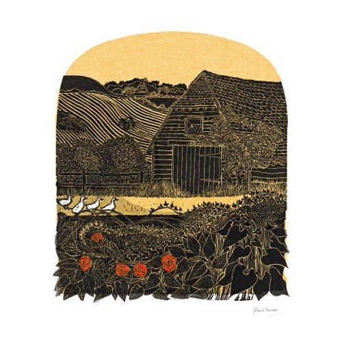 Art Angels Four Duck and Barn card by Robert Tavener