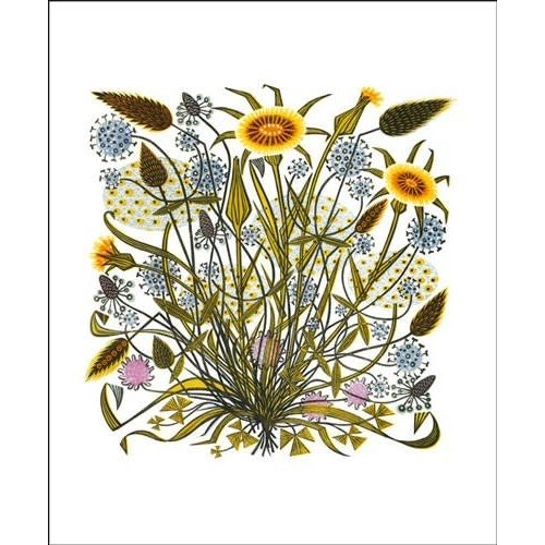 Art Angels Goats Beard and Grasses card by Angie Lewin