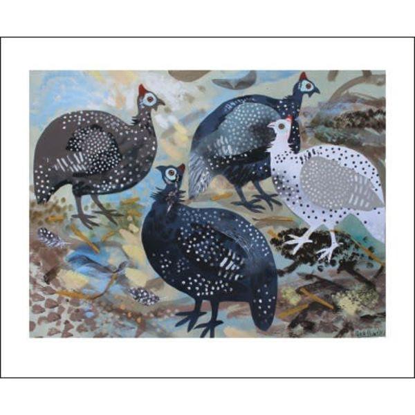 Guinea Fowl card by Mark Hearld