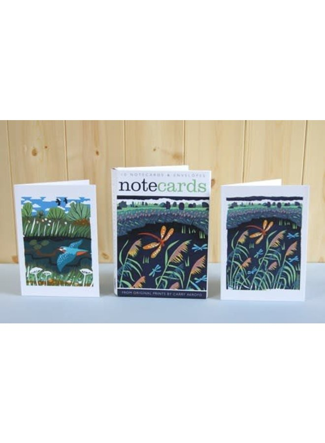Hawkier and Kingfisher Notelets by Carry Akroyd
