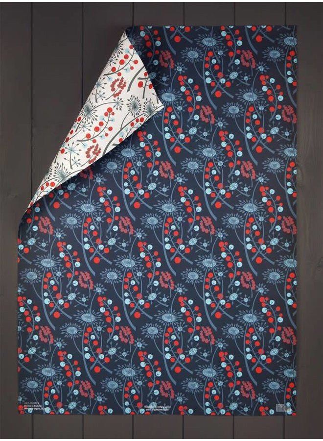 Hedge Row Gift Wrap by Angie Lewin