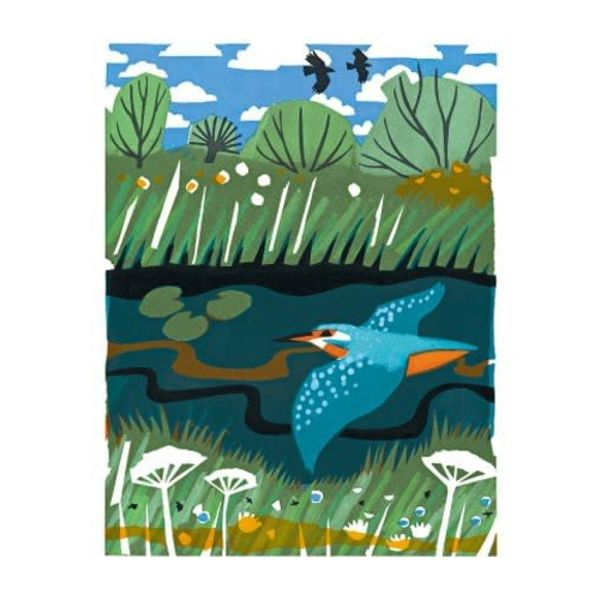 Kingfisher card by Carry Akroyd
