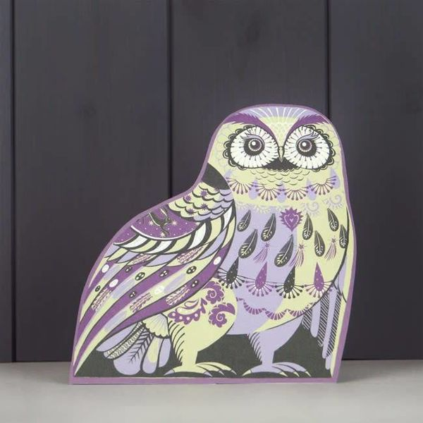 Oswald the  Owl cut card by Sarah Young