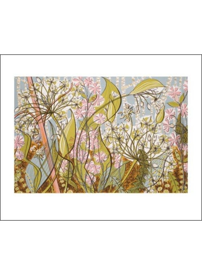 Ramsons and Campion card by Angie Lewin