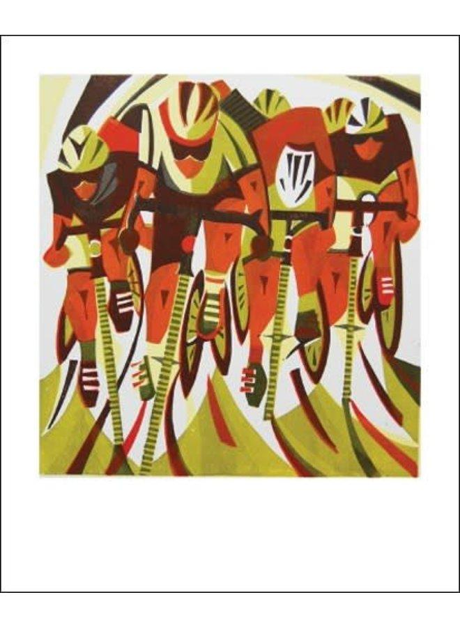 Road Race card by Paul Cleden