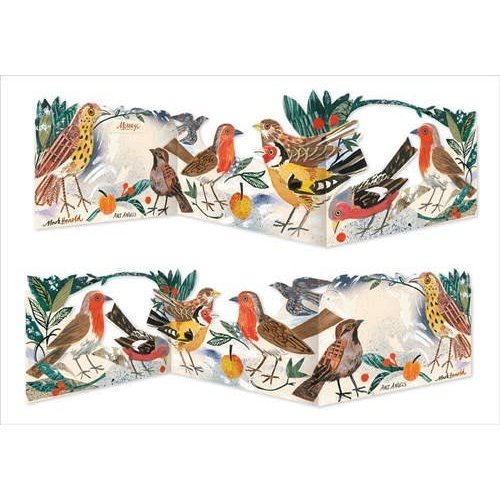 Art Angels Menanerie of birds 3 fold card by Mark Hearld