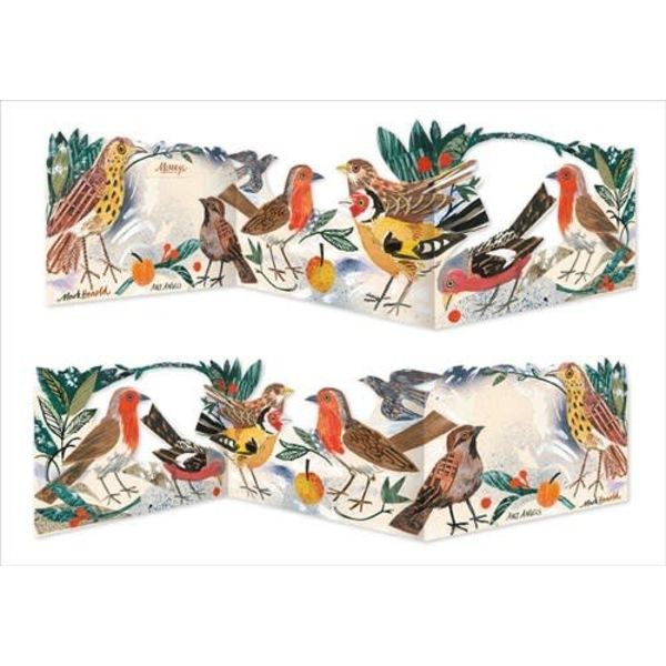 Menanerie of birds 3 fold card por Mark Hearld