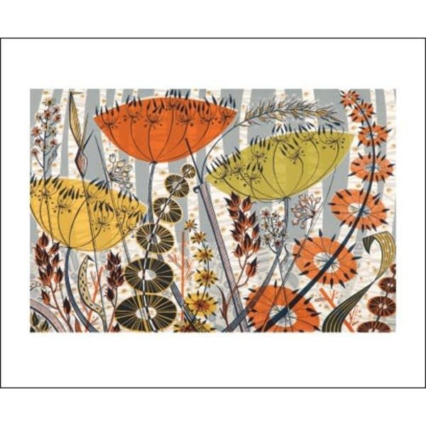 Spey Birches card by Angie Lewin
