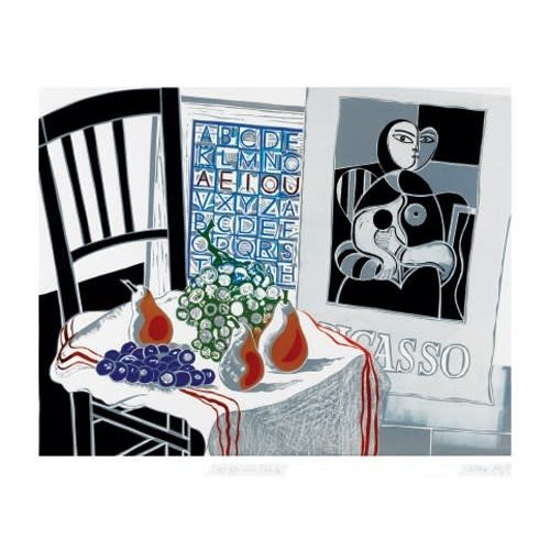Art Angels Still Life with Picasso card by Walter Hoyle