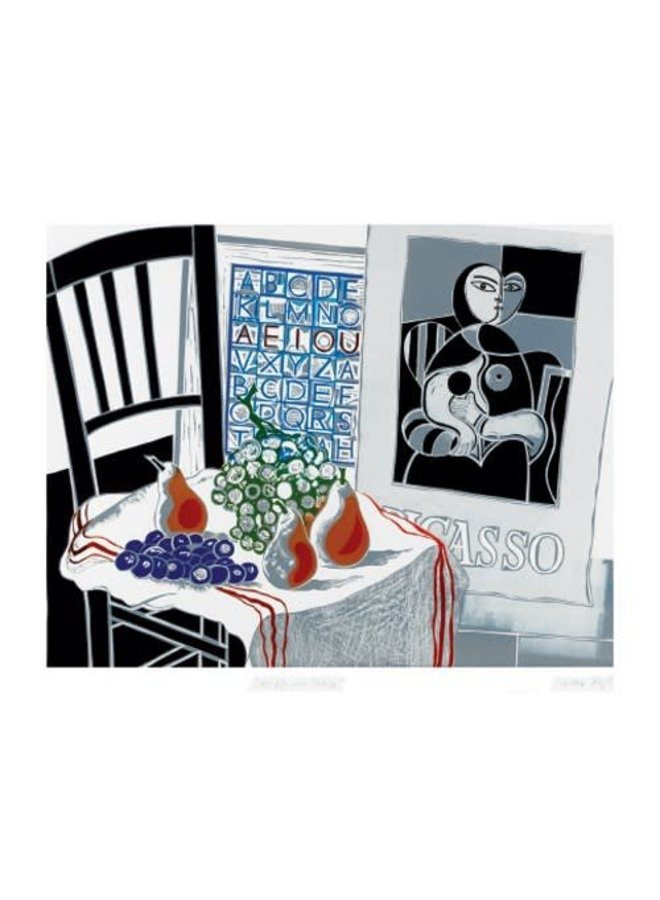 Still Life with Picasso card by Walter Hoyle