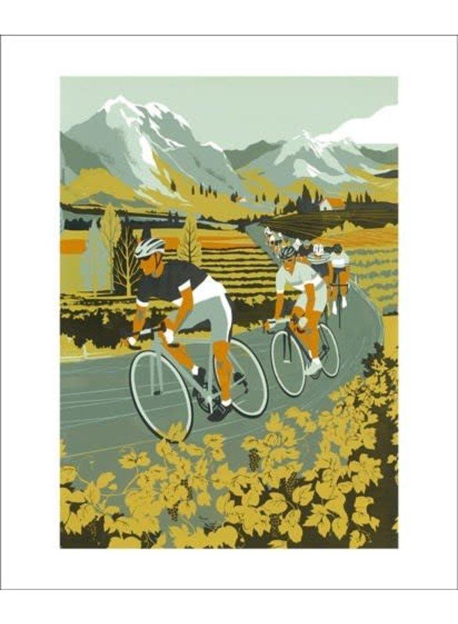 Vineyard Cyclists card by Eliza Southwood