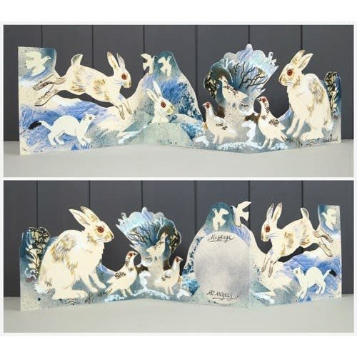 Art Angels White Hare 3 fold Mark Hearld