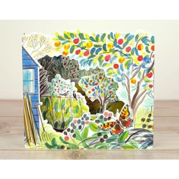 Copy of Blackbird Allotments 3D card by Emily Sutton
