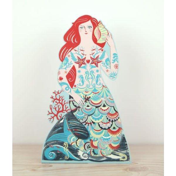 Meryl Mermaid 3D card by Emily Sutton