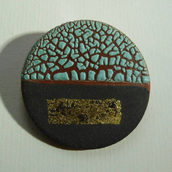 Copy of Ceramic  stoneware  Brooch