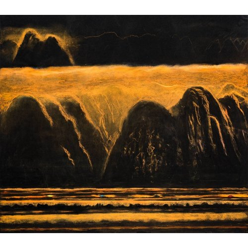 Mike Holcroft Golden Meridian, The Road'  54 x 48 cm
