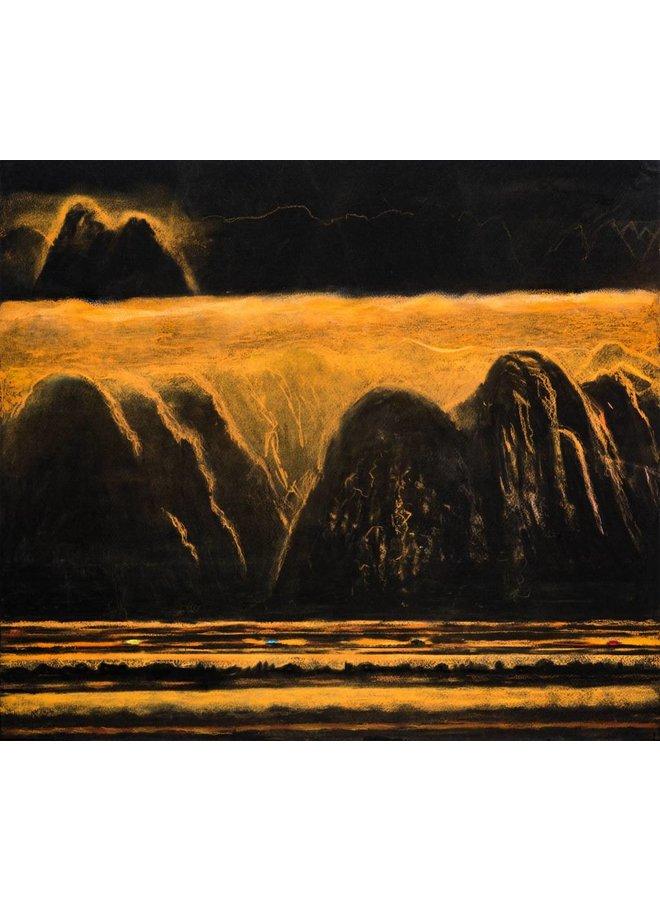 Golden Meridian, The Road'  54 x 48 cm