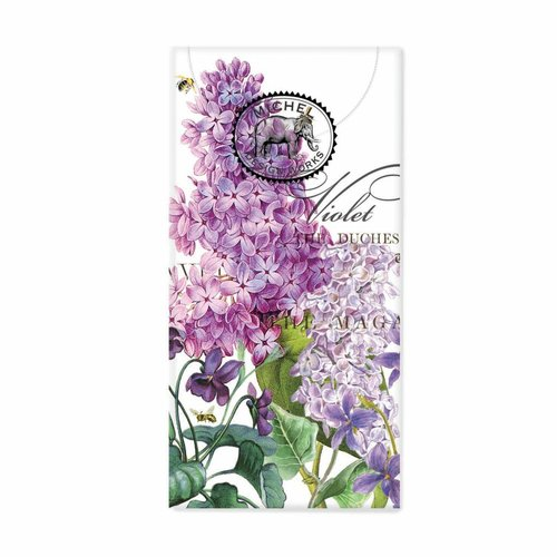 Michel Design Works Lilac and Violet 10 Pocket Tissues