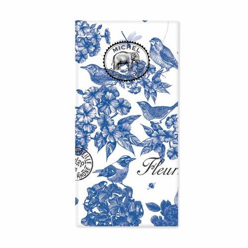 Michel Design Works Algodón Indigo 10 pañuelos de papel de bolsillo